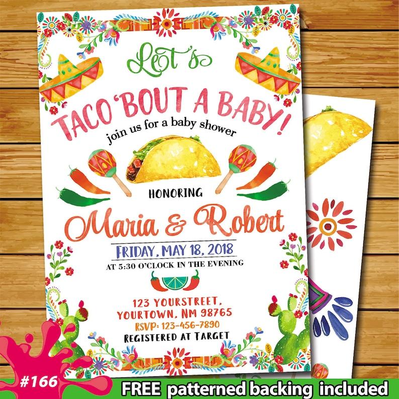 Taco Bout Baby Shower Fiesta Baby Shower Invitation Mexican Baby Shower Invitation Cactus Baby Shower Invitation Let S Taco About Baby