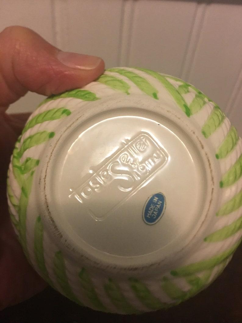 Vintage  Ceramic Trinket  Bowl With Lid Taste Setter  Whimsical