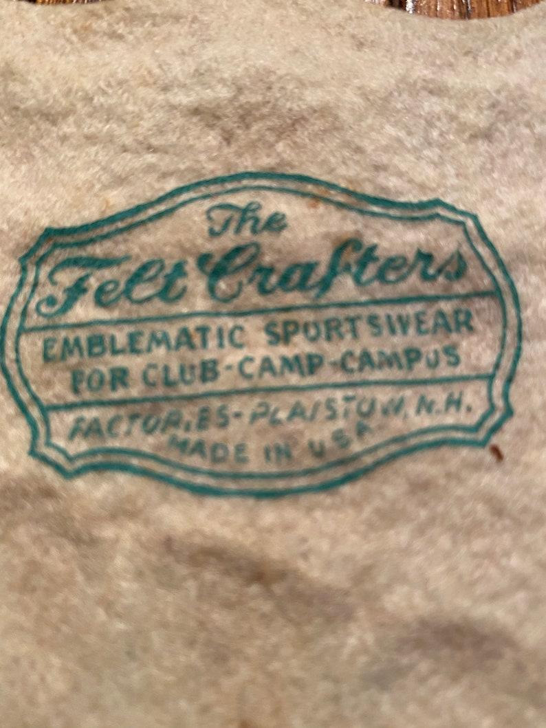Vintage Sweater Varsity Name Patch The Felt Crafters \u201cCherie\u201d
