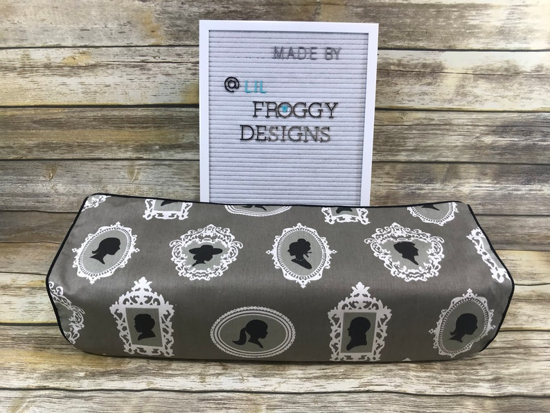 Cricut Maker and Explore/ Air/ Air 2/ One Custom Handmade Dust Cover  Gray/Black/White Cameo Polkadot with (Choose color) Piping