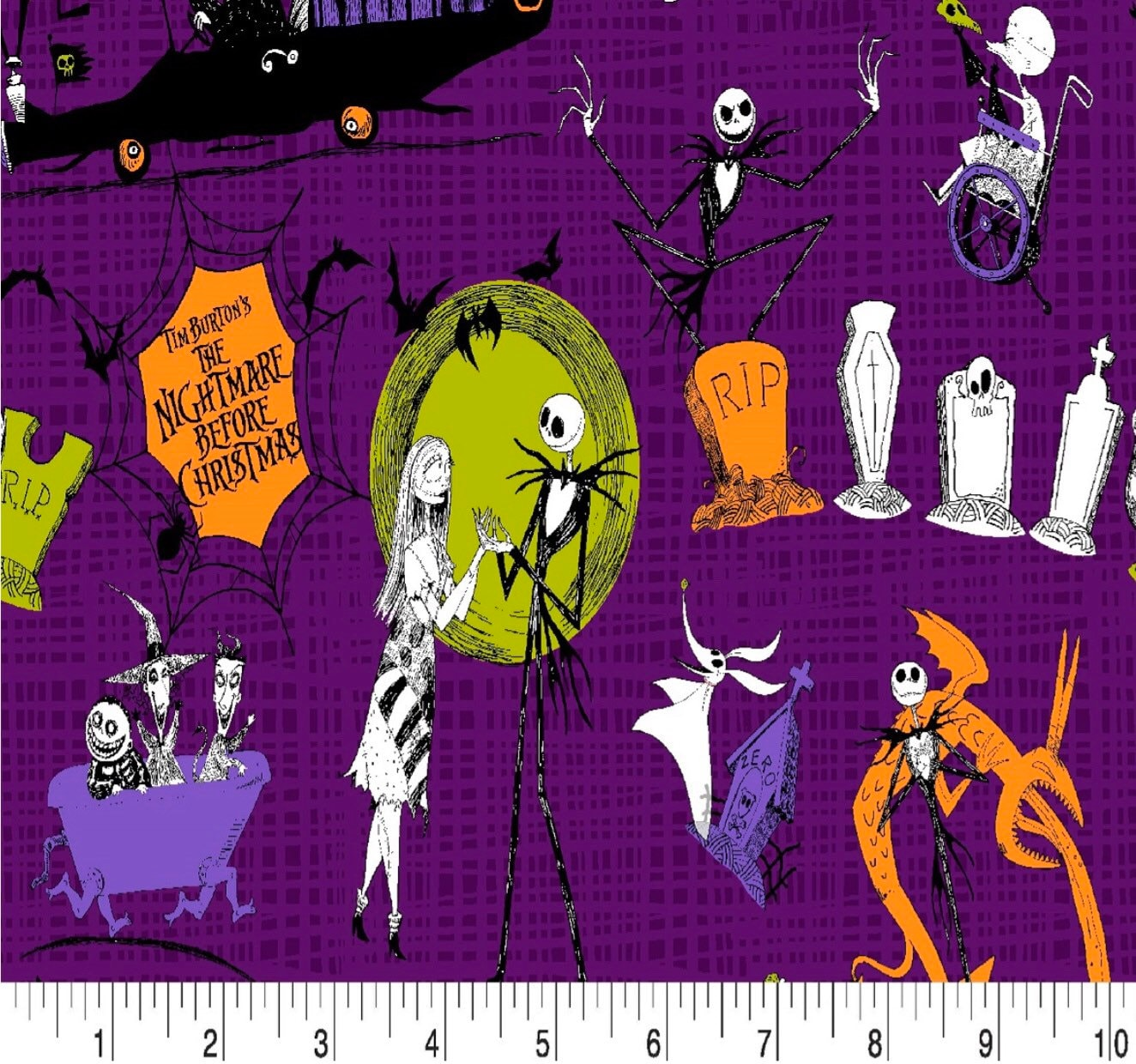 Nightmare Before Christmas Fabric 43 Quilting Fabric | Etsy