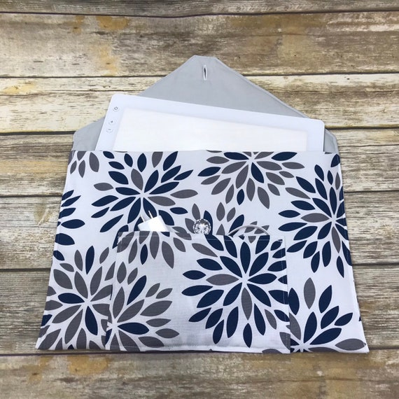 "Gray And White Arrow ""Quilted"" Hand Made Cricut Bright Pad Case Cover"