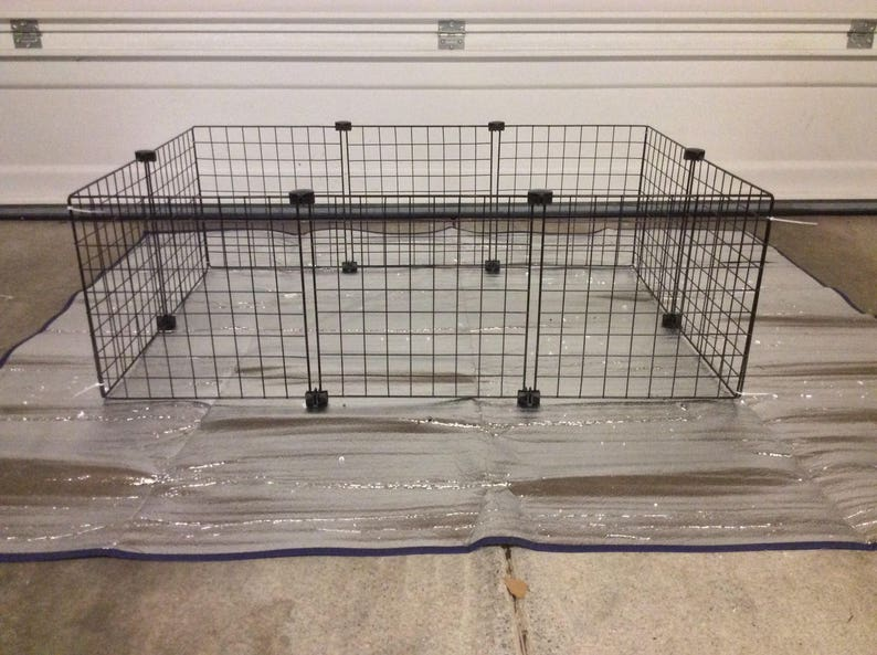 Guinea Pig Cage Extra 14 x 14 Wire Grid Black image 0