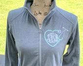 Nurse jacket, nurse graduation gift, fleece full zip, gift for nurse, monogrammed embroidered personalized, nurse graduation gift idea