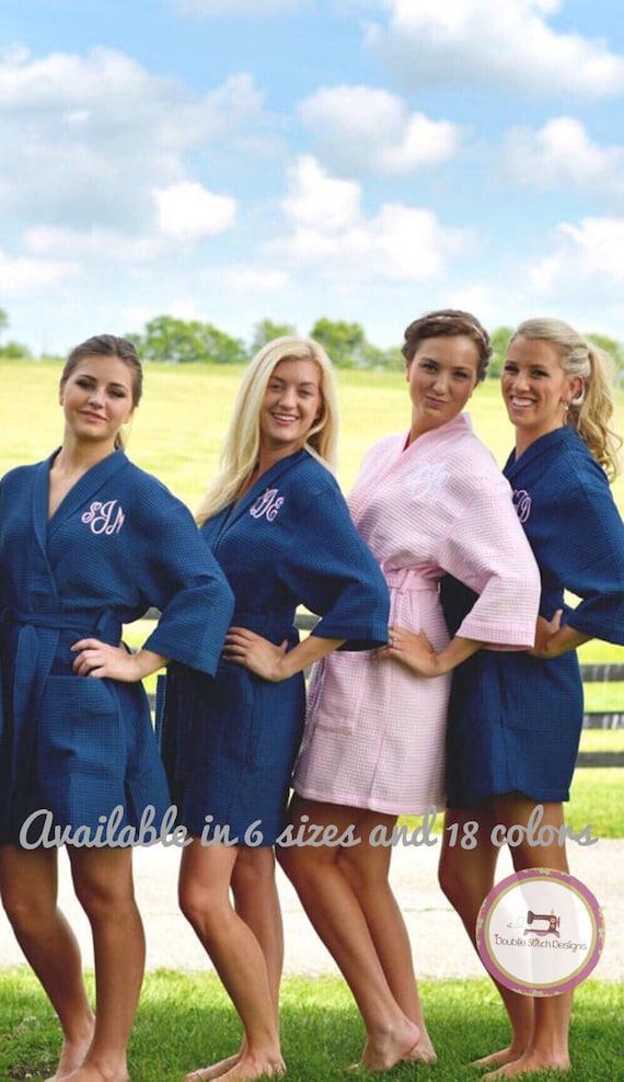 cf012a6f34 Monogrammed robe bridesmaid gift under 25 wedding party