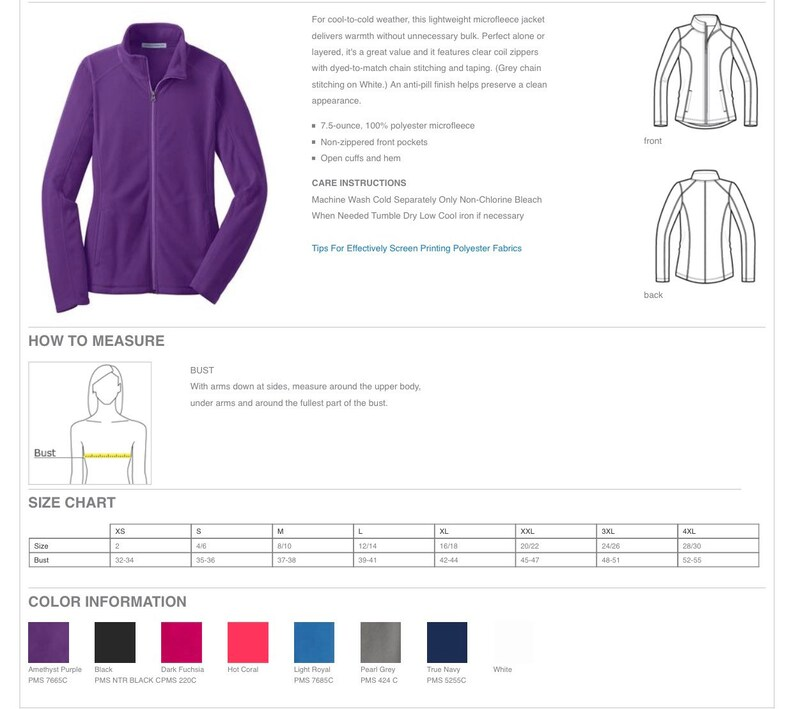 pockets Monogram jacket ladies personalized gift idea soft full zip micro fleece jacket embroidered summer fall winter