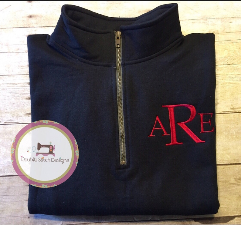 Monogrammed Pullover Personalized Quarter Zip