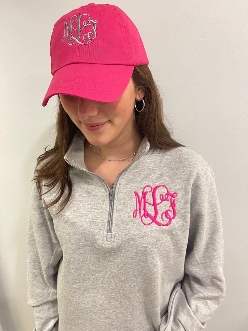 Monogrammed pullover personalized quarter zip sweatshirt image 0