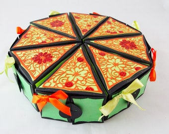 Halloween Party Favor, Cake Box, Table Centre Piece, Holloween Decor, Party Favor, Goody Bag, Cake Slice, Cake Favor Box, Party Table Decor