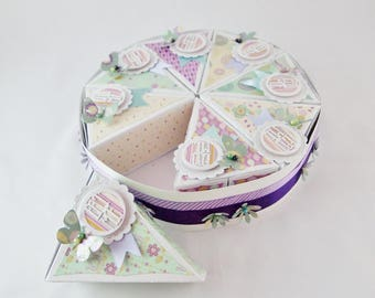 Cake Box, Table Centre Piece, Baby Shower Decor, Party Favor, Goody Bag, Cake Slice, Cake Favor Box, Party Table Decor, Sweet Treat Box