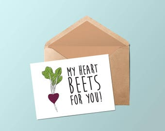 The boy • card • My heart beets for you