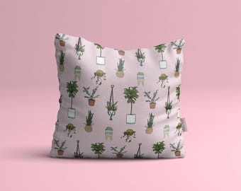 Pillow cover • small plants