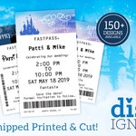 Fast Pass Wedding Save the Dates (CUT AND PRINTED! –Available as Magnets!)
