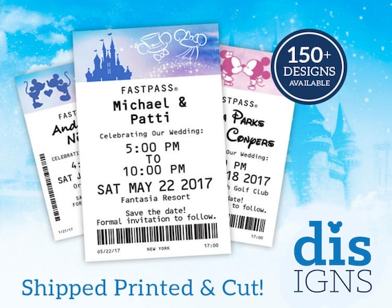 fast pass wedding save the dates cut and printed available etsy