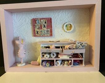 Melody Jane Casas de Muñecas Conjunto de 6 Juguetes De Madera Escala 1:12 Accesorio Tienda Vivero
