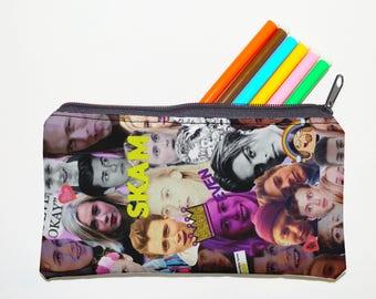 skam Zipper Pouch, Pencil Pouch, Pencil Case,