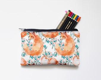 Zipper Pouch, Pencil Pouch, Pencil Case,