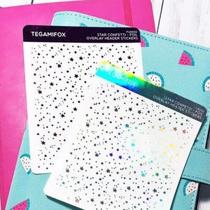 Heart Confetti Header Stickers Foiled Stickers Fits Erin Condren and Happy Planner