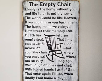 Christmas In Heaven Poem With Chair Printable.Save Me A Seat Etsy