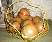old french WOODEN BALLS Bowling game