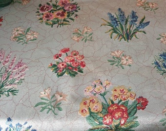 A panel of beautiful 1930s floral fabric
