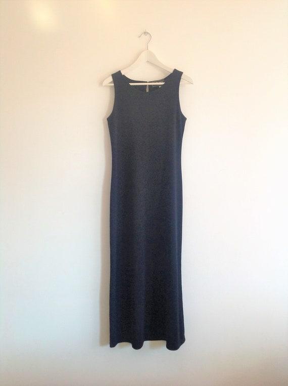 VERSACE jeans couture long  dress/Black Maxi Dress
