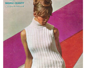 Vintage Pattern Knitted Mary Quant Designer Top PDF Download.