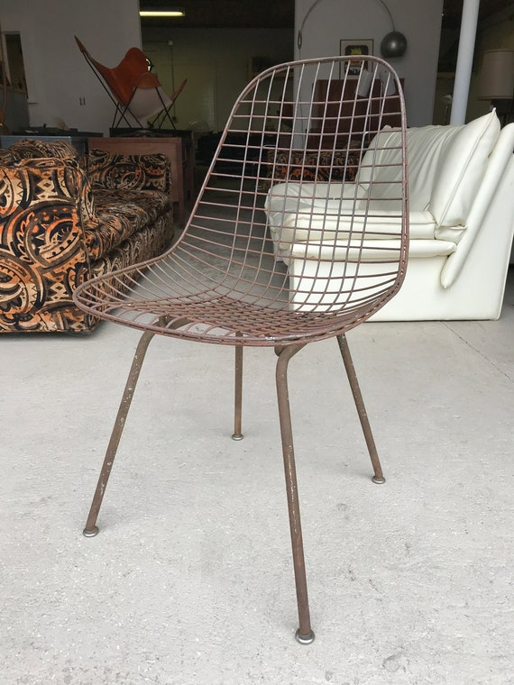 Eames Herman Miller Wire Chair Mid Century Modern | Etsy
