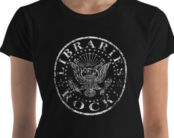 Libraries Rock Ramones Style Summer Reading 2018 Women's short sleeve t-shirt