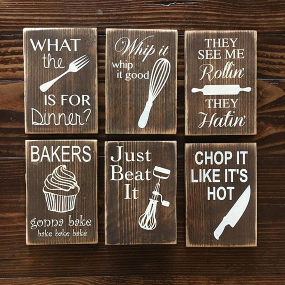 four funny kitchen wood signs rustic kitchen wood signs etsy rh etsy com primitive wooden signs for kitchen diy wooden signs for kitchen