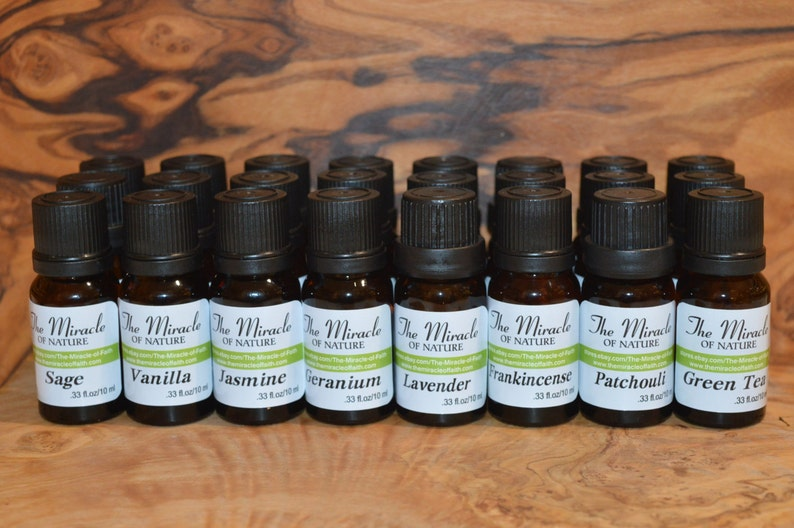 Essential Oils Pure Natural Aromatherapy Massage 10ml 0.33oz image 0