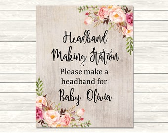 Headband Sign Etsy