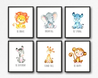picture relating to Free Printable Nursery Art identify Rhino nursery artwork Etsy