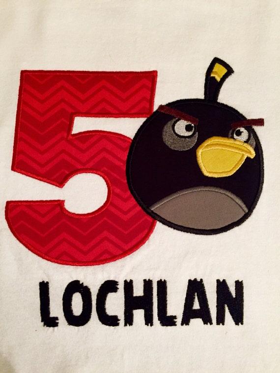 Angry birds bomb bird birthday shirt black bomb bird shirt ...