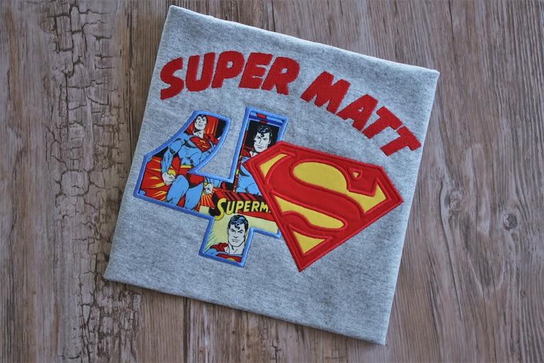 Superman Birthday Shirt Superhero Party