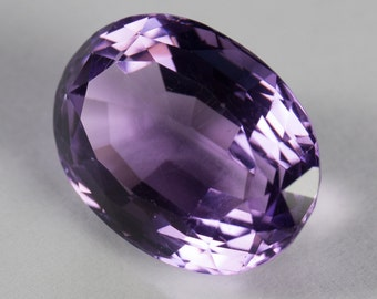 Natural Deep Purple Amethyst, Oval Mixed Cut, 12.07ct