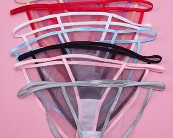 Smoke/Vapor Bikini Panty - 9 colors - Transparent Panty, Sexy String Bikini Panty, See Through Panty