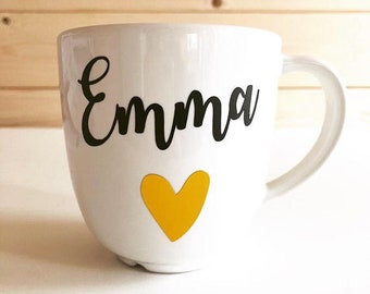 personalized mugs etsy