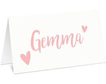 Wedding Place Name Cards, Place Cards, Name Cards, Wedding Stationery