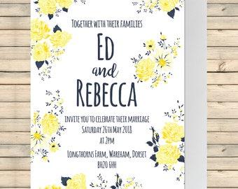 Wedding Invitation, Wedding Stationery, Wedding Invite, Invitation