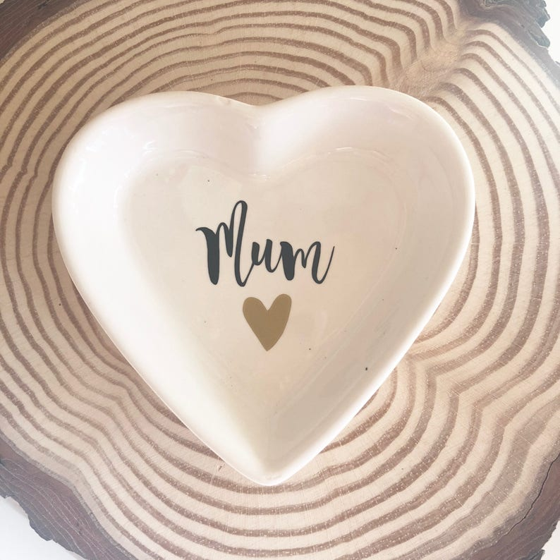 Ceramic trinket dish jewellery dish gifts for mum Mother/'s day gift keepsake gifts heart gift heart dish gifts for her,