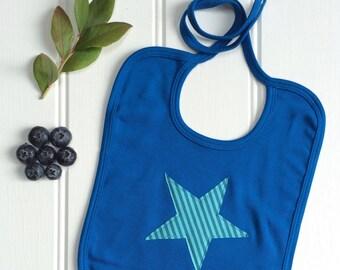 Star Bib - Blueberry - Organic Cotton - New Baby - Gift For Newborn - New Parent - Baby gifts - Baby Shower - Baby Bib - Fruit Bib