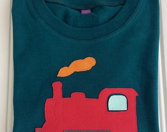 Train T-shirt for kids - Clothing - Handmade - Train tops for boys and girls - Birthday gift - Children's train presents - Isabee - Organic