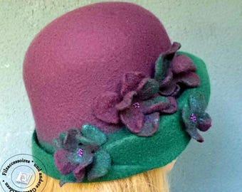 Sentivo la Cloche Hat mano infeltrita