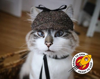 Ready to ship. Halloween Classic Cat Hat. Cap for Cats and Kittens. Pet photo prop | ALLCATSGOOD