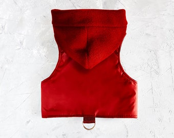 Best Hoodie harness. Difficult to escape Red Cat Harness with Removable Hood. Easy to put on. ALLCATSGOOD
