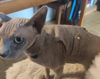 Escape proof cat harness. Cat and Kitten walking jacket / sphynx / bengal cat vest. Allcatsgood