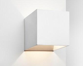 Applique lampada da parete design moderno spirale led bianco