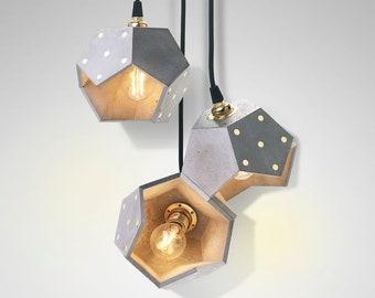 Lampada In Cemento Fai Da Te : Lampadario cemento lampada sospensione lampada cemento etsy