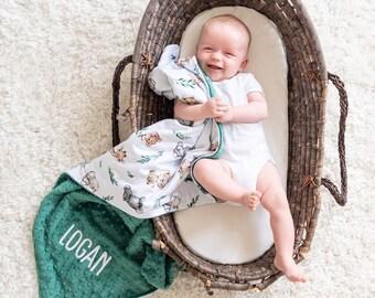 Personalized Baby Blanket, Minky Baby Blanket, Baby Shower Gift, Newborn Gift